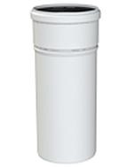 Cox Geelen CoxDens PP rookgaspijp Ø 80 x 1000 mm wit