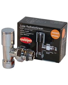 """Best Design Luxe radiatorkraan haaks 1/2"""" x 15 mm knel"""