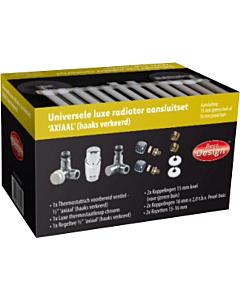 Best Design Luxe radiatoraansluitset universeel axiaal haaks-verkeer