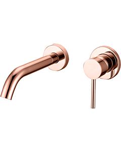 Best Design Lyon wandmengkraann inbouw uitl. 20 cm rosé/mat goud