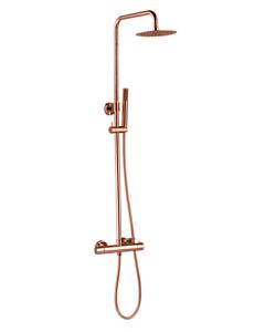 Best Design Lyon therm. regendouche opbouwset rosé/mat goud