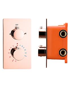 """Best Design Lyon inbouwthermostaat/-box 2-weg 1/2"""" rosé/mat goud"""