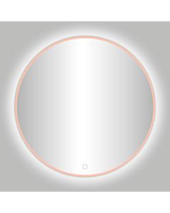 Best Design Lyon spiegel met LED  Ø 80 cm rosé/mat goud