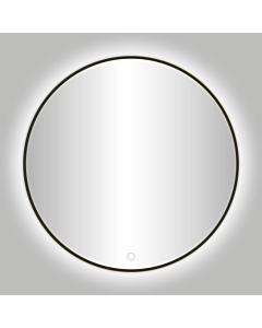 Best Design Moya spiegel met LED Ø 60 cm gunmetal