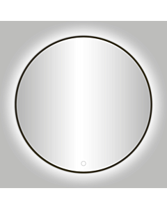 Best Design Moya spiegel met LED Ø 80 cm gunmetal