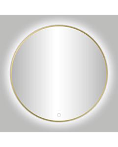 Best Design Nancy spiegel met LED Ø 100 cm mat goud