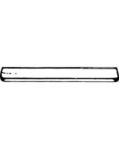 De Beer planchet 49 x 12 cm wit