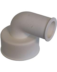 De Beer closetsok rubber uitwendig haaks 32 mm 90W wit