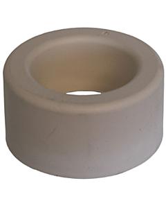 De Beer closetsok rubber uitwendig 35 mm 20W wit