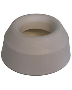 De Beer closetsok rubber uitwendig 45 mm 66W wit