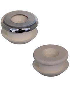 De Beer urinoir aanvoermanchet met rozet chroom 35 mm 81R