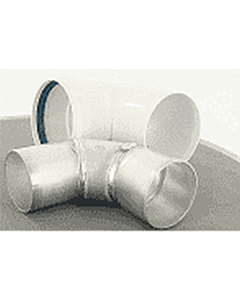 Bosch bocht 90° concentrisch 90/60 mm