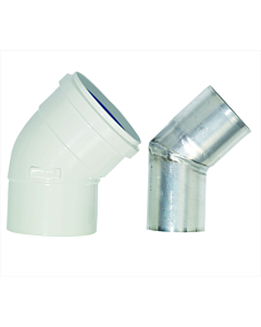Bosch bocht 45° concentrisch 90/60 mm