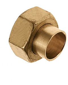 """Bonfix 2-delige koppeling 15 mm cap. x 1/2"""" bi.dr."""