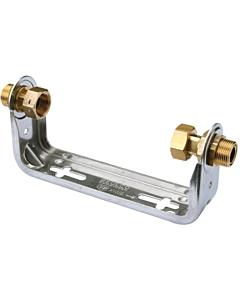 """Raminex watermeterbeugel laag model 2 x 3/4"""" bu.dr. L=110 mm"""
