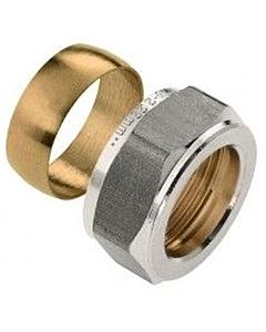 Bonfix knelring en moer  18 mm voor vorstb. gevelkraan