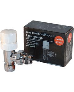 """Best Design Luxe therm. radiatorkraan haaks 1/2"""" x 15 mm"""