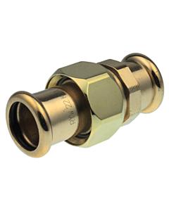VSH Xpress 3-delige koppeling brons 15 mm pers