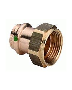 "Profipress 2-dlg koppeling brons 12 mm pers x G 3/4"" bi.dr. vlak"