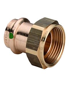 "Profipress 2-dlg koppeling brons 15 mm pers x G 3/4"" bi.dr. vlak"