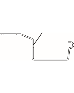 Evaco G120 gootbeugel grijs horizontaal 4 mm lip/kraal