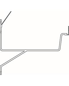 Evaco G205 gootbeugel grijs renovatie 5 mm lip/lip