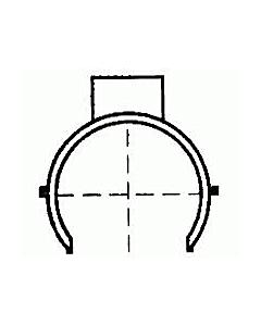 Wadal PVC klemzadel 110-100 x 40 mm