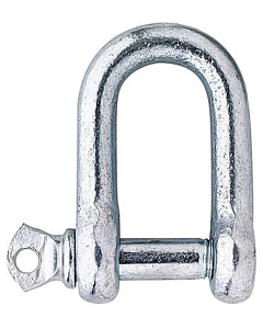 D-sluiting  8 mm staal verzinkt 2 stuks
