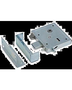 Poortslot met dagschoot DM60 L/R verz. incl. garnituur en 2 sleutels
