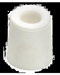 Deurbuffer rubber Ø 30 x 24 mm wit
