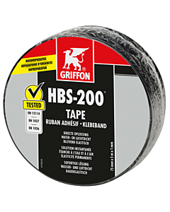 Griffon afdichtingstape HBS-200 7.5 cm rol 5 m zwart