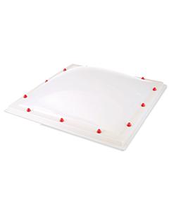 Skylux lichtkoepel 2W helder PC/pmma Heatstop TH  DM 040 x 040 cm