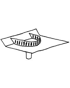 Alu PVC dakafvoer Kiezelbak 60 x 80 x 300mm 45gr