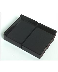 Terca raamdorpel 105x105x30 mm kering 20 mm zwart