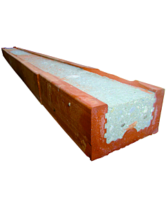 Baksteenlatei 6.5 x 10 x 140 cm