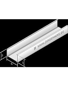 Dingemans C-wandprofiel C75N lengte 300 cm