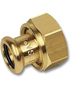 "PURAPRESS 2-delige koppeling 15 mm pers x 1"" bi.dr."