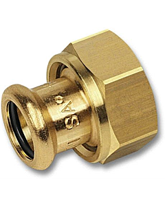 "PURAPRESS 2-delige koppeling 22 mm pers x 1.1/2"" bi.dr."