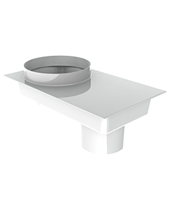 Burgerhout adapter metaal Ø 80/80 > Ø 80/125 mm wit