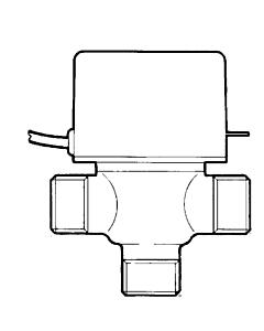 """Honeywell 3-wegklep 24V 1"""" bi.dr."""