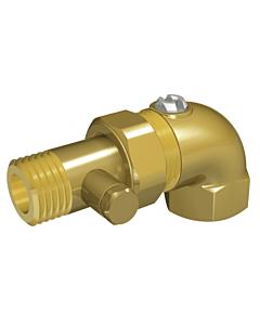 "Ballofix radiatorvoetventiel met aftap 1/2"" haaks"