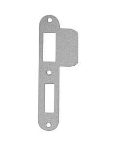 AXA sluitplaat D+N-slot Links rvs afgerond