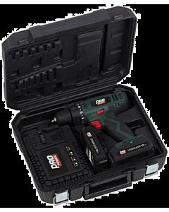 Powerplus Pro Power schroef-/boormachine 18V 2 x 2.0 Ah Li-ion