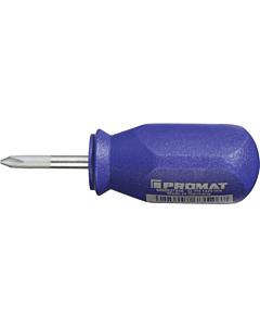 Promat schroevendraaier PH 1 x 25 mm Stubby