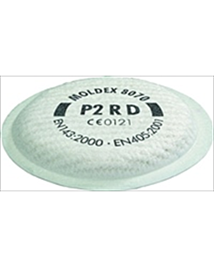 Moldex filterkussen 8070 P2D stof/rook voor masker 8002