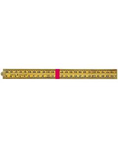 Schuil duimstok 1514 hout 4-delig 1 m