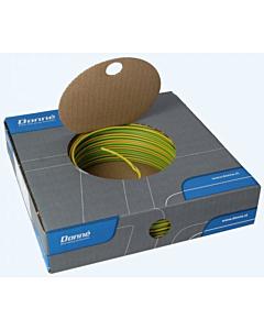 Donne installatiedraad VD/Eca  2.5 mm2 rol 100 m groen/geel