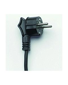 Aansluitsnoer haaks H03V2V2-F3G 0.75 mm2 zwart 2 m