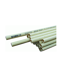 """Dyka Installatiebuis pvc 16 mm 5/8"""" creme lengte 4 m"""