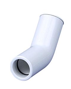 Airco condensafvoer bocht 45° star wit Ø 25 mm